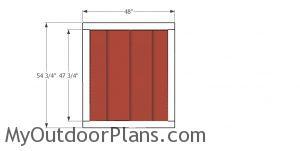 Door for short shed