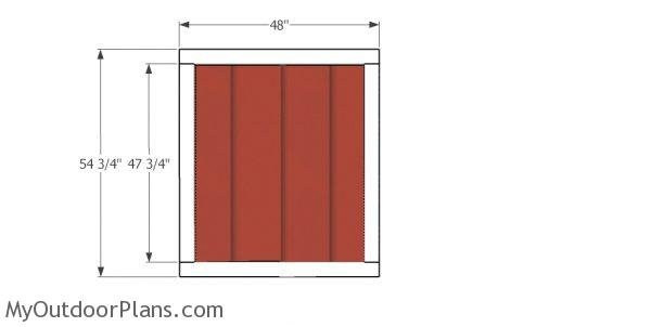 Door for short shed
