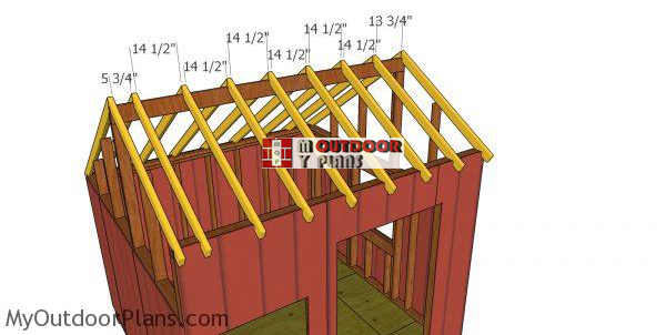 Fitting-the-rafters---10x10-shed