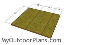 Floor sheets - 8x10 short shed