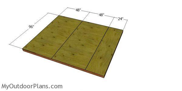 Floor sheets - 8x10 short shed