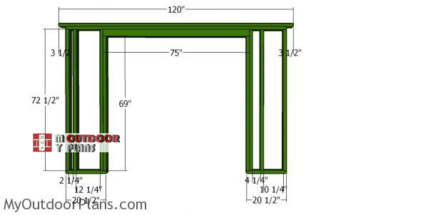 Front-wall-frame-for-10x12-short-shed