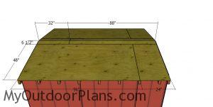 Roof sheets - 8x10 short shed