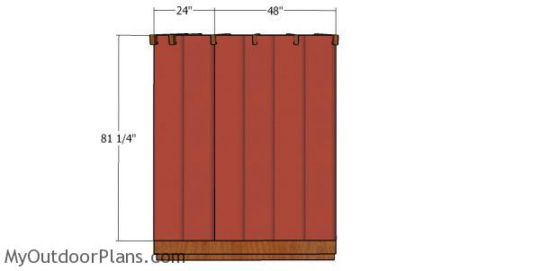 Short side wall panels