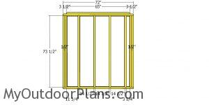 Side wall frames - 5x6 shed