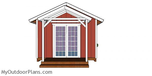 12x12 She Shed Plans - front view