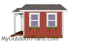 12x12 She Shed Plans - side view