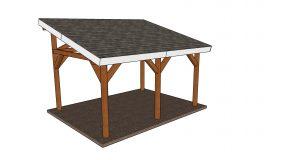 12×16 Lean to Pavilion Plans