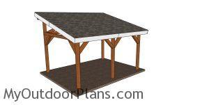 12x16 Lean to pavilion plans