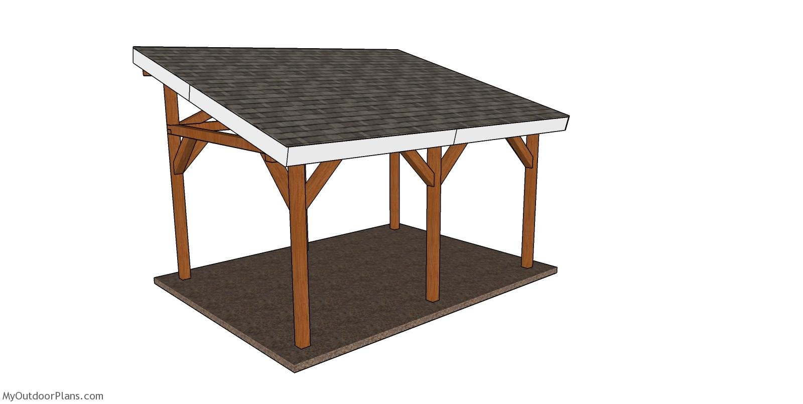 12x16 Lean to Pavilion Plans