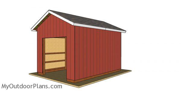 12x16 Pole Barn Plans