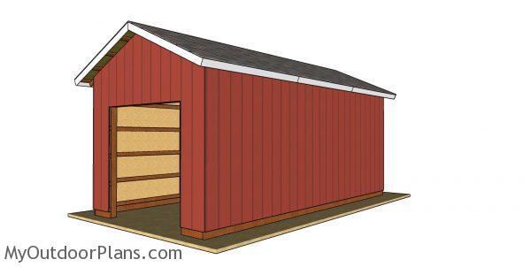 12x24 Pole Barn Plans