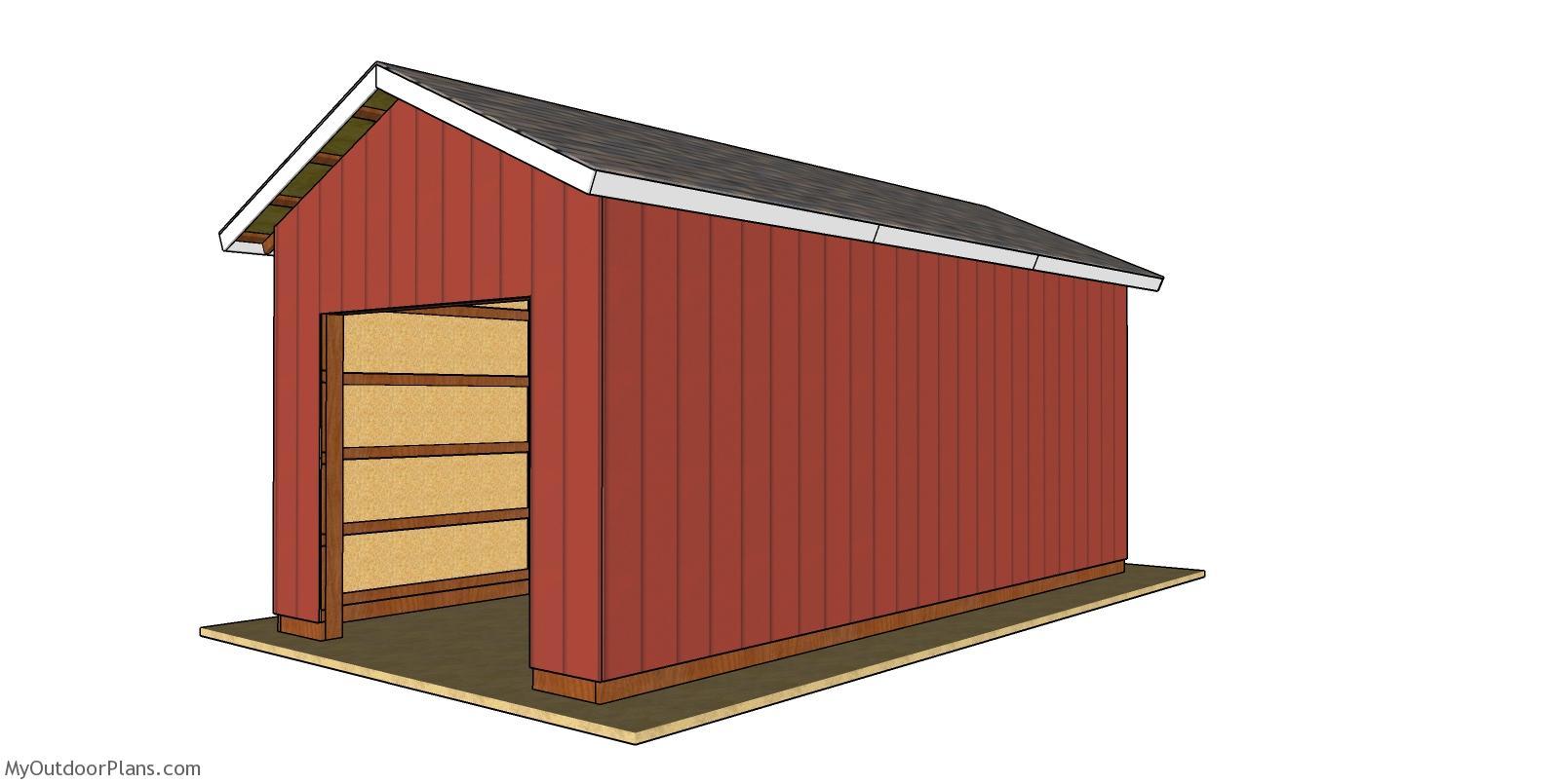 12x24 Pole Barn Plans - Free PDF Download