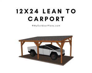 12x24 carport plans