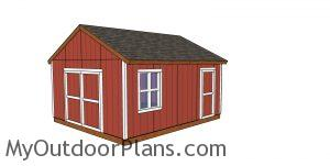 16x18 shed plans