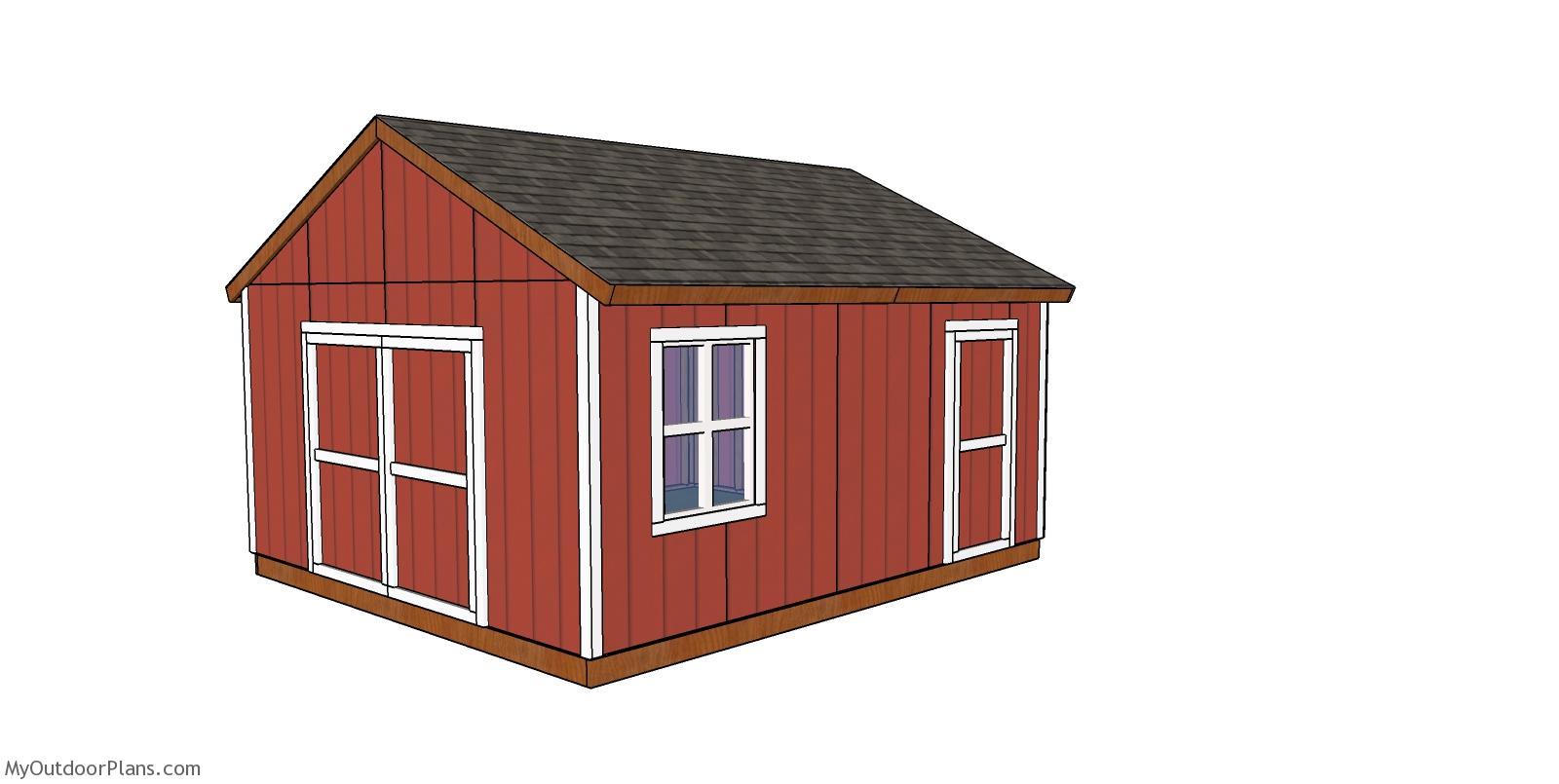 16x18 Gable Shed Plans - Free PDF Download