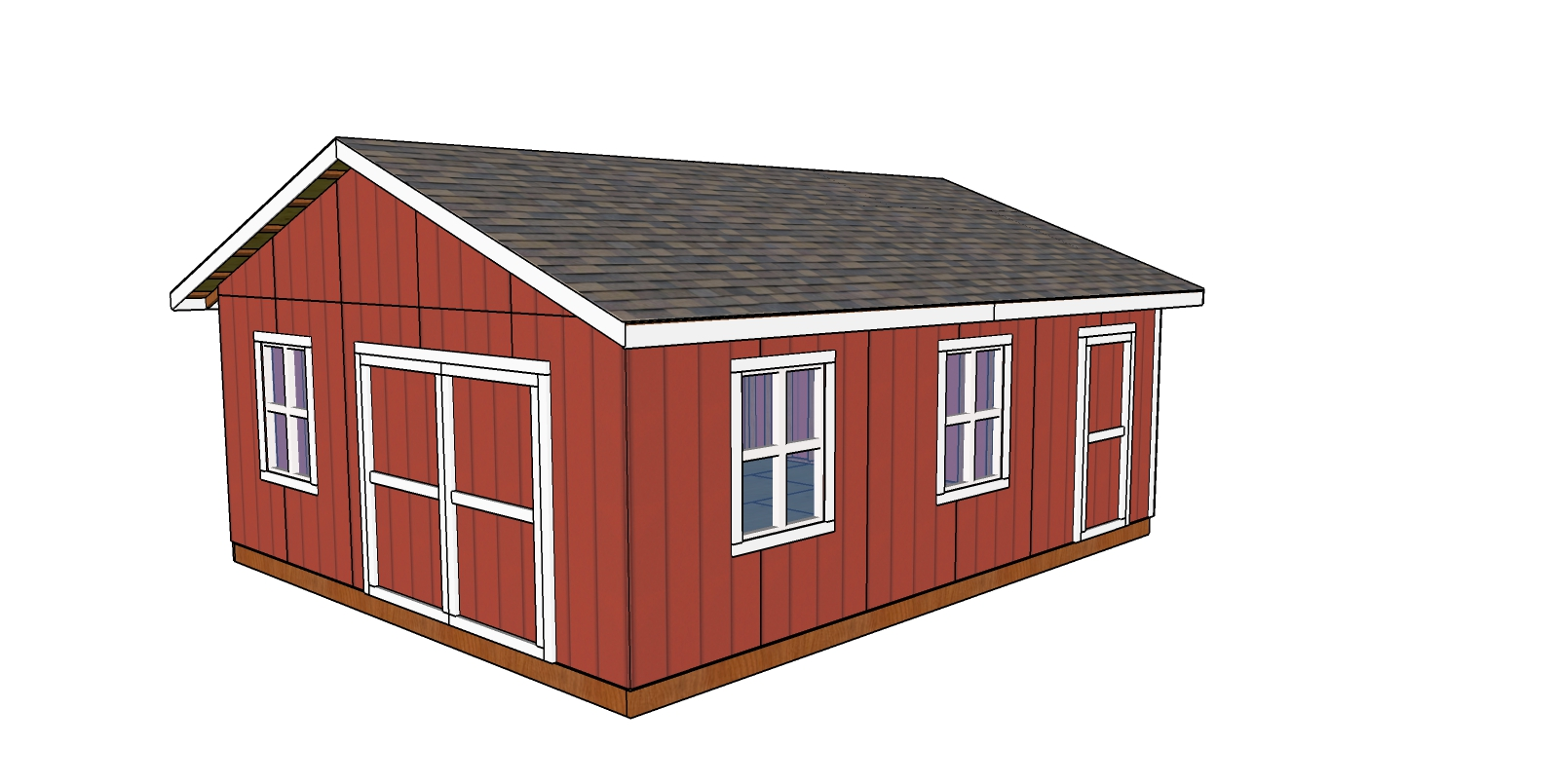 20x24 Shed Plans - Free PDF Download