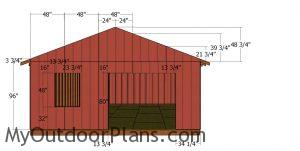 20x24 Shed - front wall