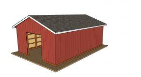 20×30 Pole Barn – Free DIY Plans