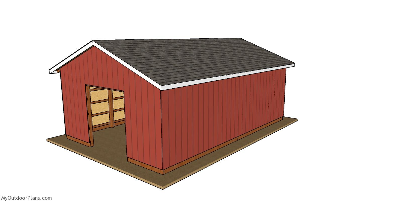 20x30 Pole Barn - Free DIY Plans