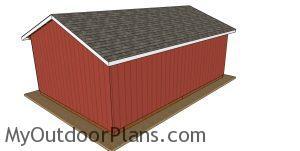 20x30 post frame barn plans