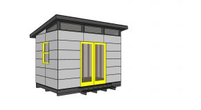 8×12 Modern Office Shed Plans – Free PDF Download