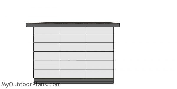 8x12 Modern Office Shed - diy plans