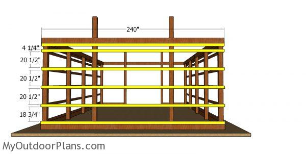 Back wall girt boards