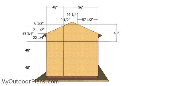 Back wall osb panels