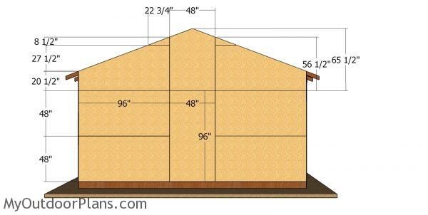 Back wall sheets - large post frame building