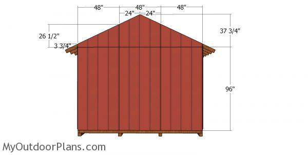 Back wall sheets - she shed plans