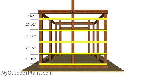 Back wall support slats