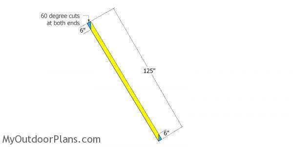 Braces for pole barn frame