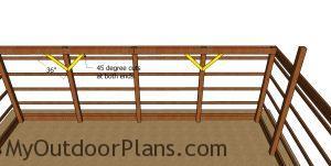 Braces for the pole barn