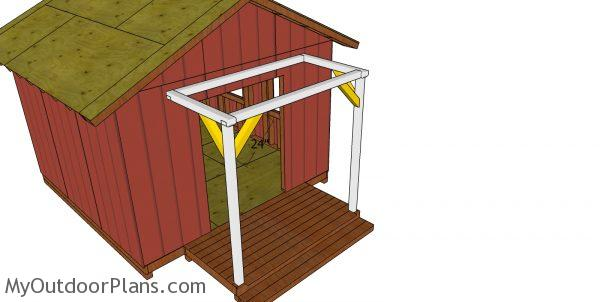 Braces for the shed porch