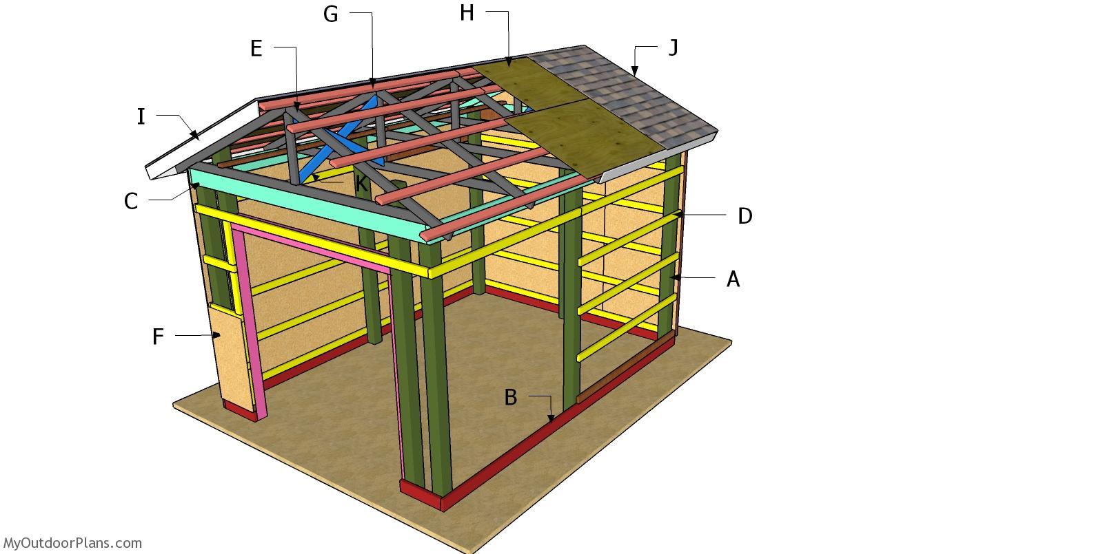 12x16 Pole Barn Roof Plans