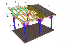 12×16 Lean to Pavilion Roof Plans