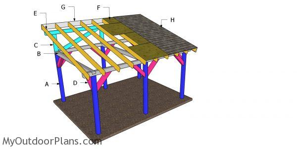 Building a 12x16 lean to pavilion