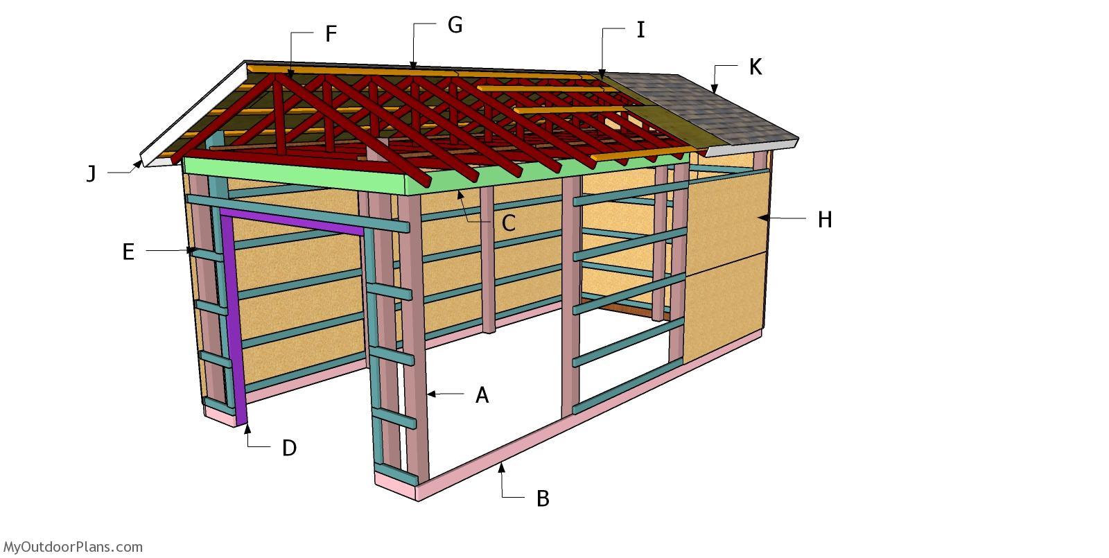 12x24 Pole Barn Roof - Free DIY Plans
