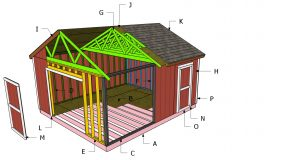 16×18 Gable Shed Roof Plans