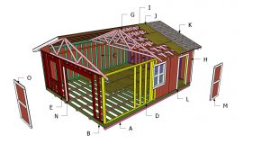 20×24 Gable Shed Roof – Free DIY Plans
