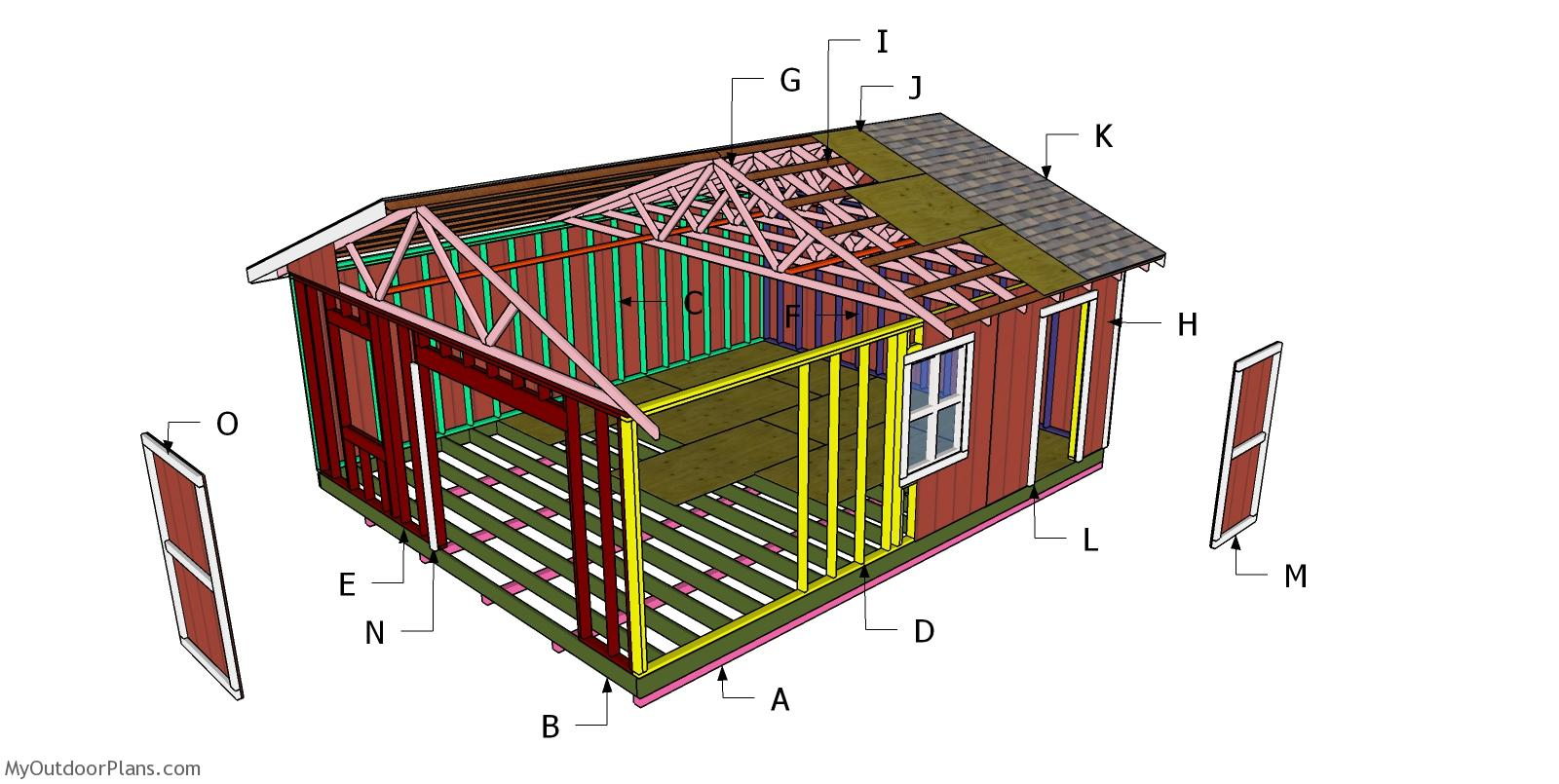 20x24 Gable Shed Roof - Free DIY Plans