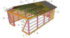 20×30 Gable Pole Barn Roof Plans