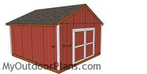 Corner trims - 16x18 shed