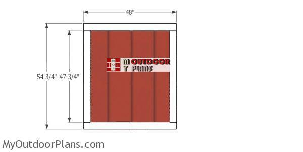 Door-for-short-shed