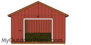 Door jambs - 16x18 shed