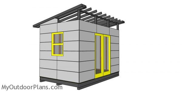 Fitting the exterior panels - 8x12 shed