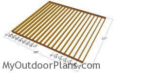 Floor frame - 20x24 shed