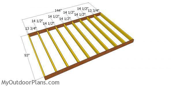 Floor frame - shed diy