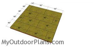 Floor sheets - 16x18 storage shed